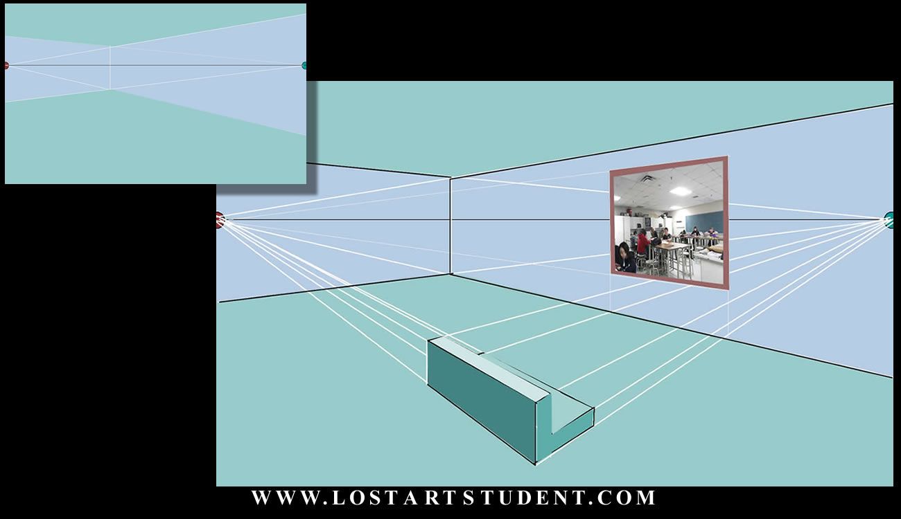 How To Draw A 2 Point Perspective Room