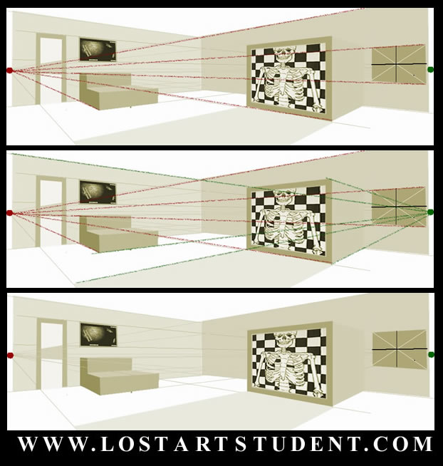 How to draw a 2 point perspective room for Living room 2 point perspective
